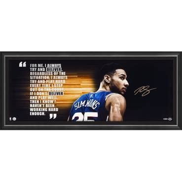 Ben Simmons Signed 'Deliver' - Colour