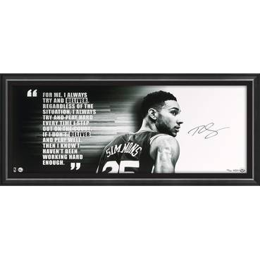 Ben Simmons Signed 'Deliver'
