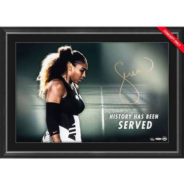 Serena Williams Signed 'History Has Been Served'