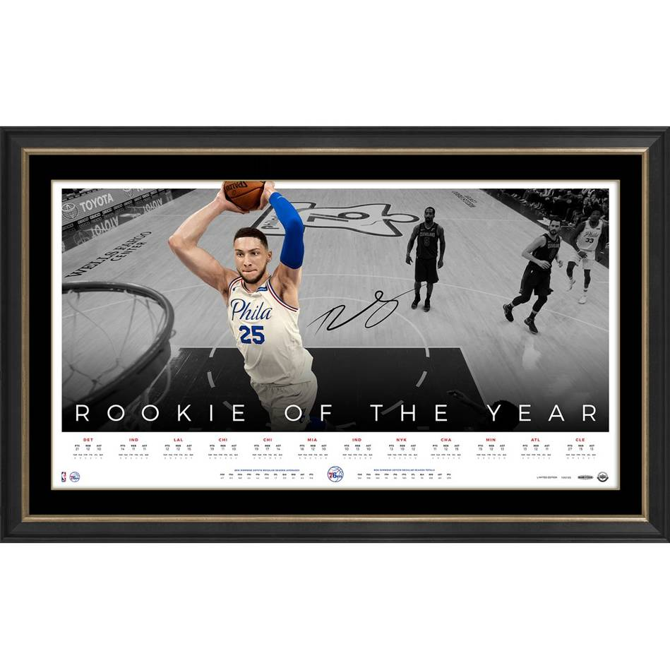 mainBen Simmons Signed 'Rookie of the Year'0
