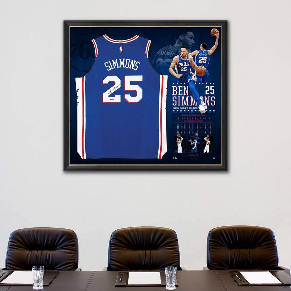 mainBen Simmons Signed Rookie of the Year Jersey1