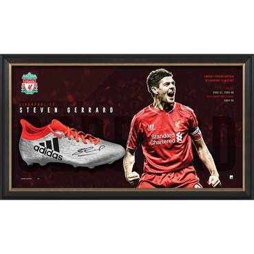 Steven Gerrard Signed Boot Display