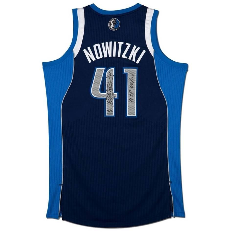 mainDirk Nowitzki Signed & Inscribed 'MVP 06/07' Dallas Jersey0