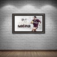 Mal Meninga Signed QLD Maroons 'Immortal'1