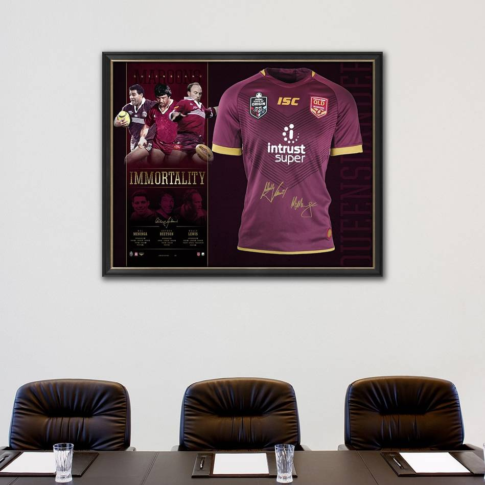 mainQueensland Maroons Signed 'Immortality'1
