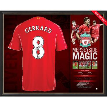 Steven Gerrard Personally Signed Liverpool Shirt