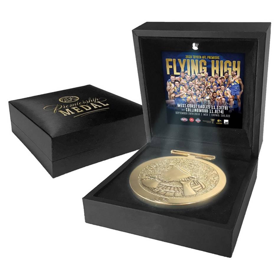mainWest Coast Eagles 2018 AFL Premiers Medal Display0