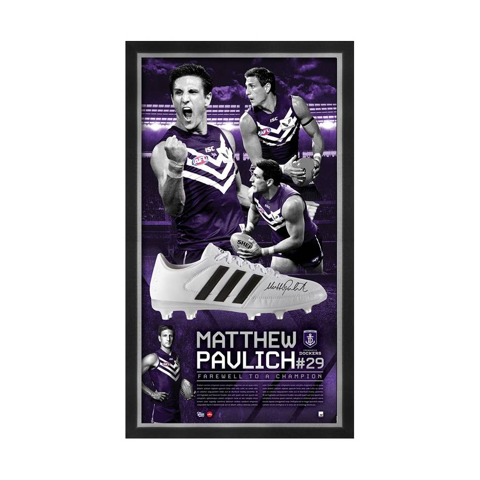 mainMATTHEW PAVLICH SIGNED 'FAREWELL TO A CHAMPION'0