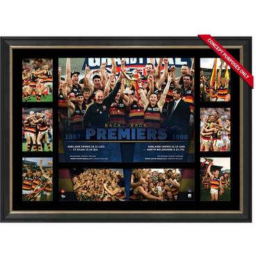 ADELAIDE CROWS PREMIERS TRIBUTE FRAME 'BACK-TO-BACK'