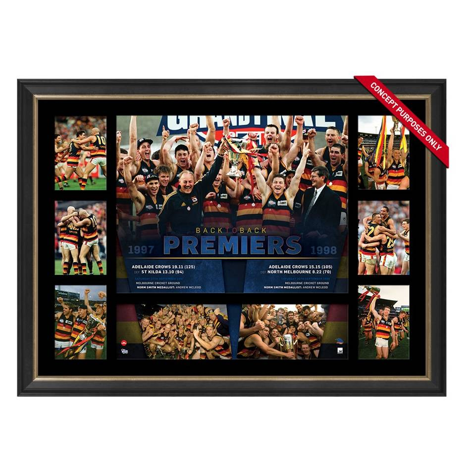 mainADELAIDE CROWS PREMIERS TRIBUTE FRAME 'BACK-TO-BACK'0