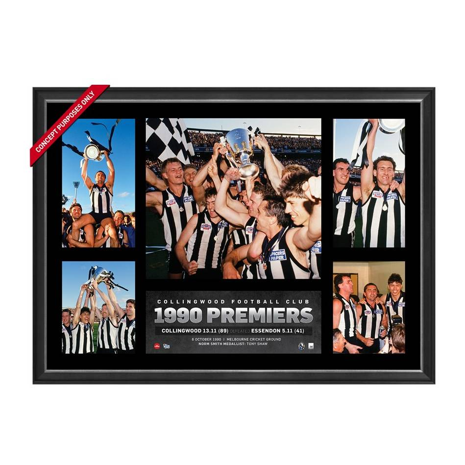 mainCOLLINGWOOD 1990 PREMIERS TRIBUTE FRAME0