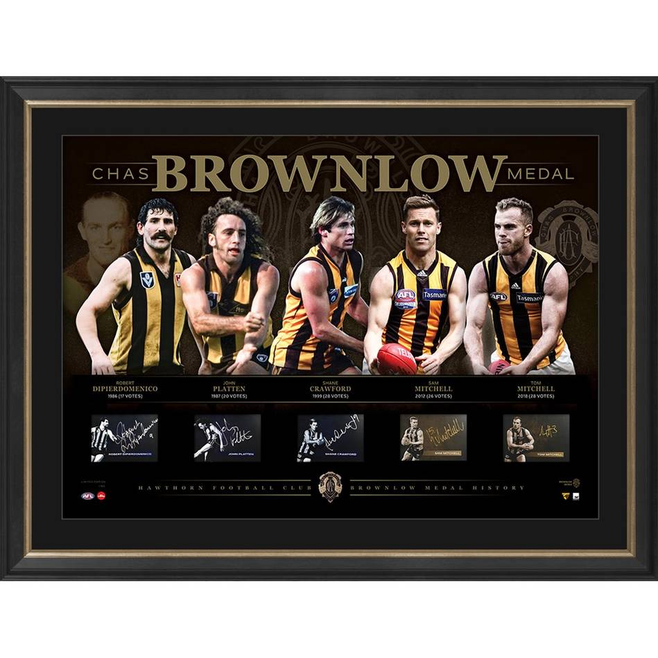 mainHawthorn Football Club Signed 'History of the Brownlow'0