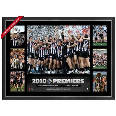 COLLINGWOOD 2010 PREMIERS TRIBUTE FRAME