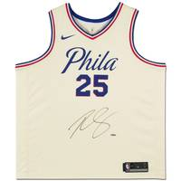 Ben Simmons Signed 76ers City Edition Nike Jersey0