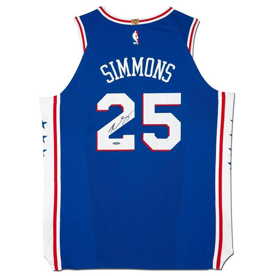 mainBen Simmons Signed 76ers Away Nike Jersey0