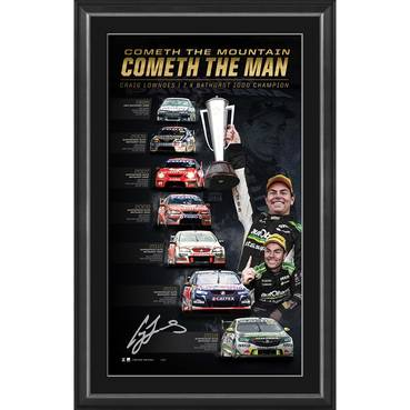 Craig Lowndes Signed 'Cometh the Mountain, Cometh the Man'
