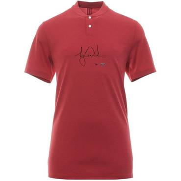 Tiger Woods Signed Nike Red Polo