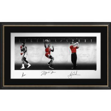 LEGENDS OF SPORT SIGNED - ALI, JORDAN AND WOODS