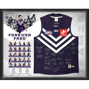 Fremantle Football Club 25 Year Team Signed 'Forever Freo'