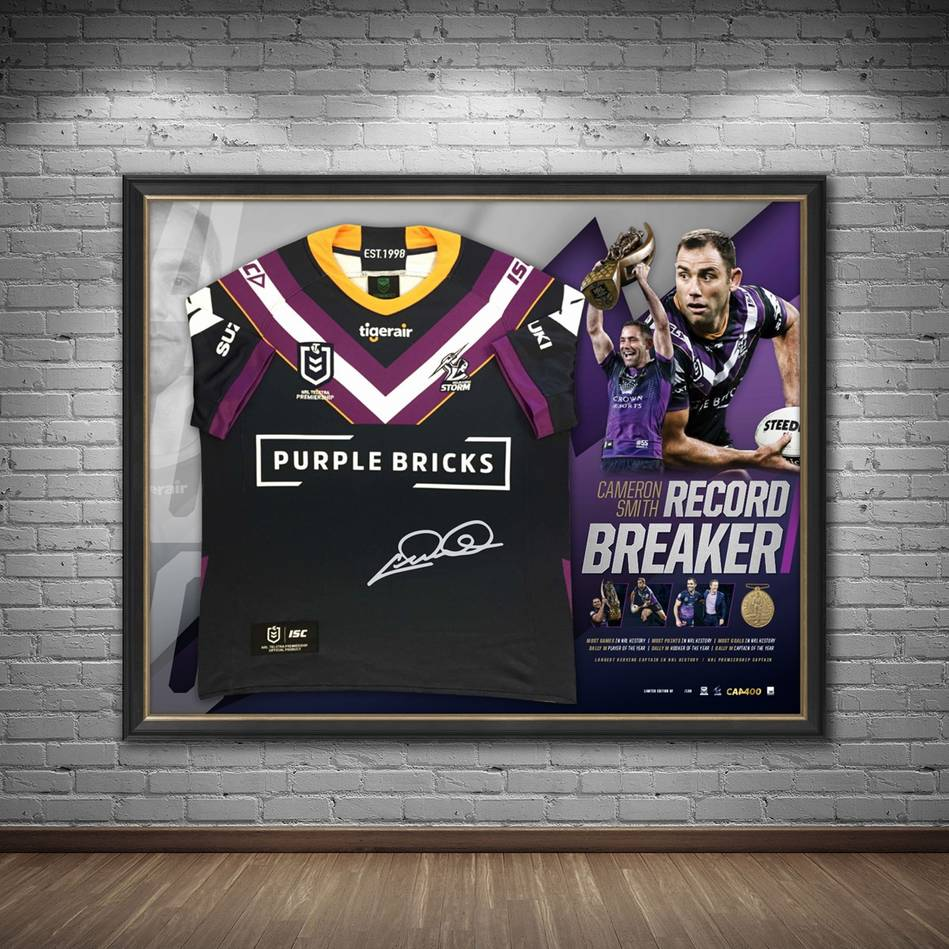 mainCameron Smith Signed 'Record Breaker' Jersey Display1