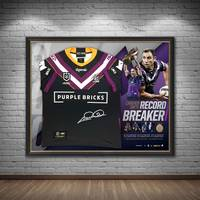 Cameron Smith Signed 'Record Breaker' Jersey Display1