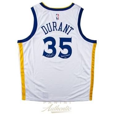Kevin Durant Signed & Inscribed Warriors Jersey
