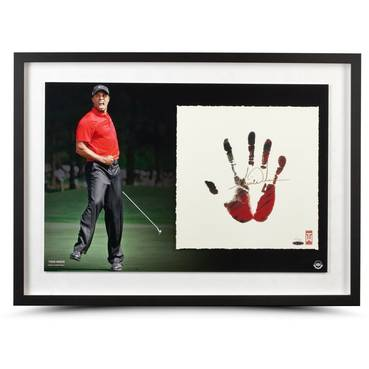 TIGER WOODS SIGNED 'RED AND BLACK'