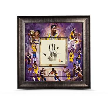 MAGIC JOHNSON SIGNED CAREER TEGATA