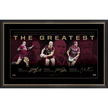 Maroons Triple Signed 'The Greatest' Artisan Collection