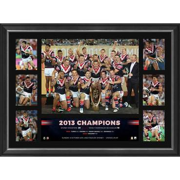 SYDNEY ROOSTERS 2013 NRL PREMIERS TRIBUTE FRAME