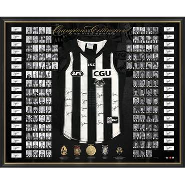 COLLINGWOOD 125TH ANNIVERSARY SIGNED 'CHAMPIONS OF COLLINGWOOD'