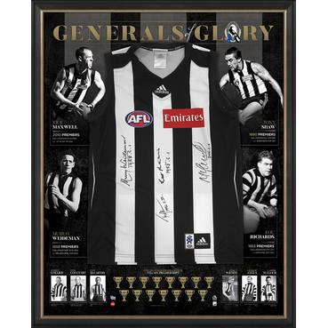 COLLINGWOOD 125th ANNIVERSARY SIGNED 'GENERALS OF GLORY'