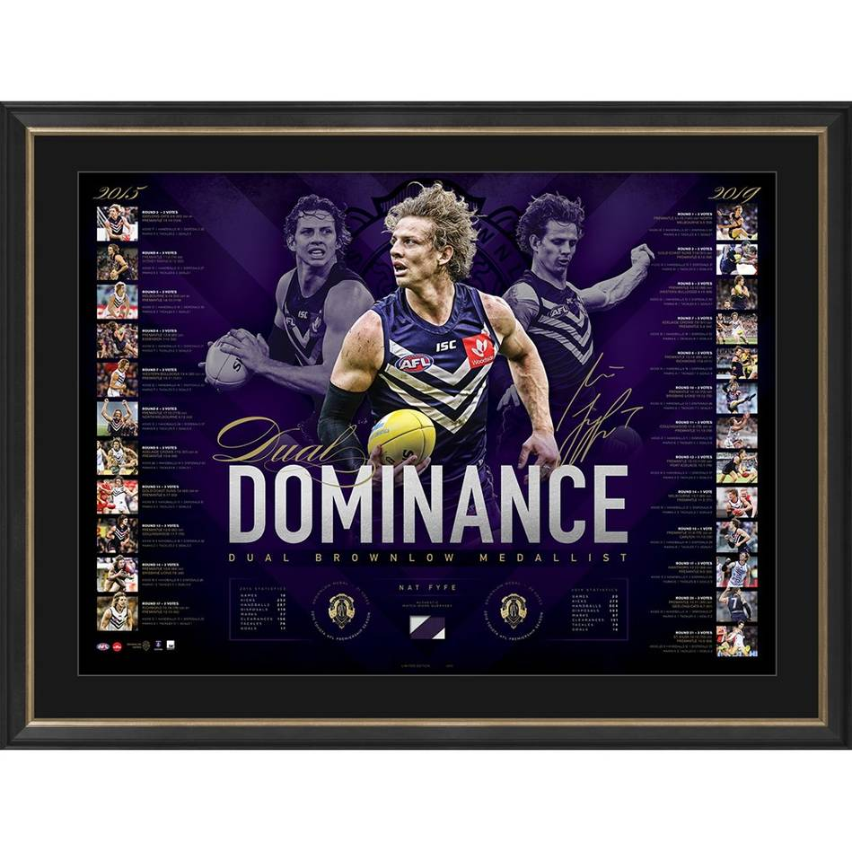 mainNat Fyfe Signed 2019 Brownlow Medal Lithograph0