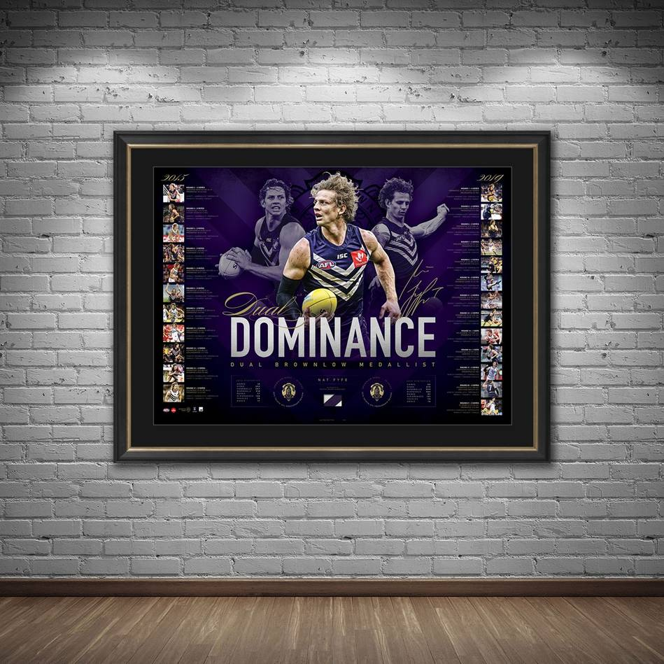 mainNat Fyfe Signed 2019 Brownlow Medal Lithograph1