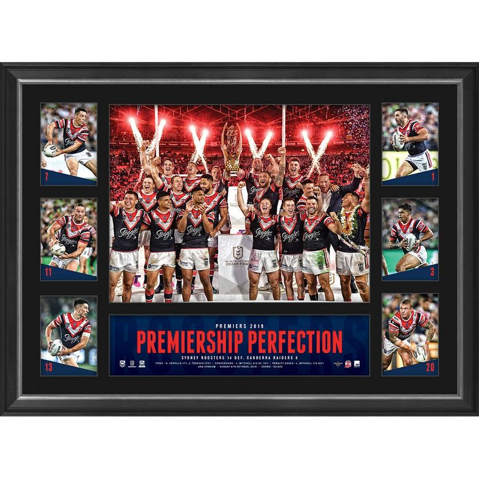 mainSydney Roosters 2019 Premiers Tribute Frame0