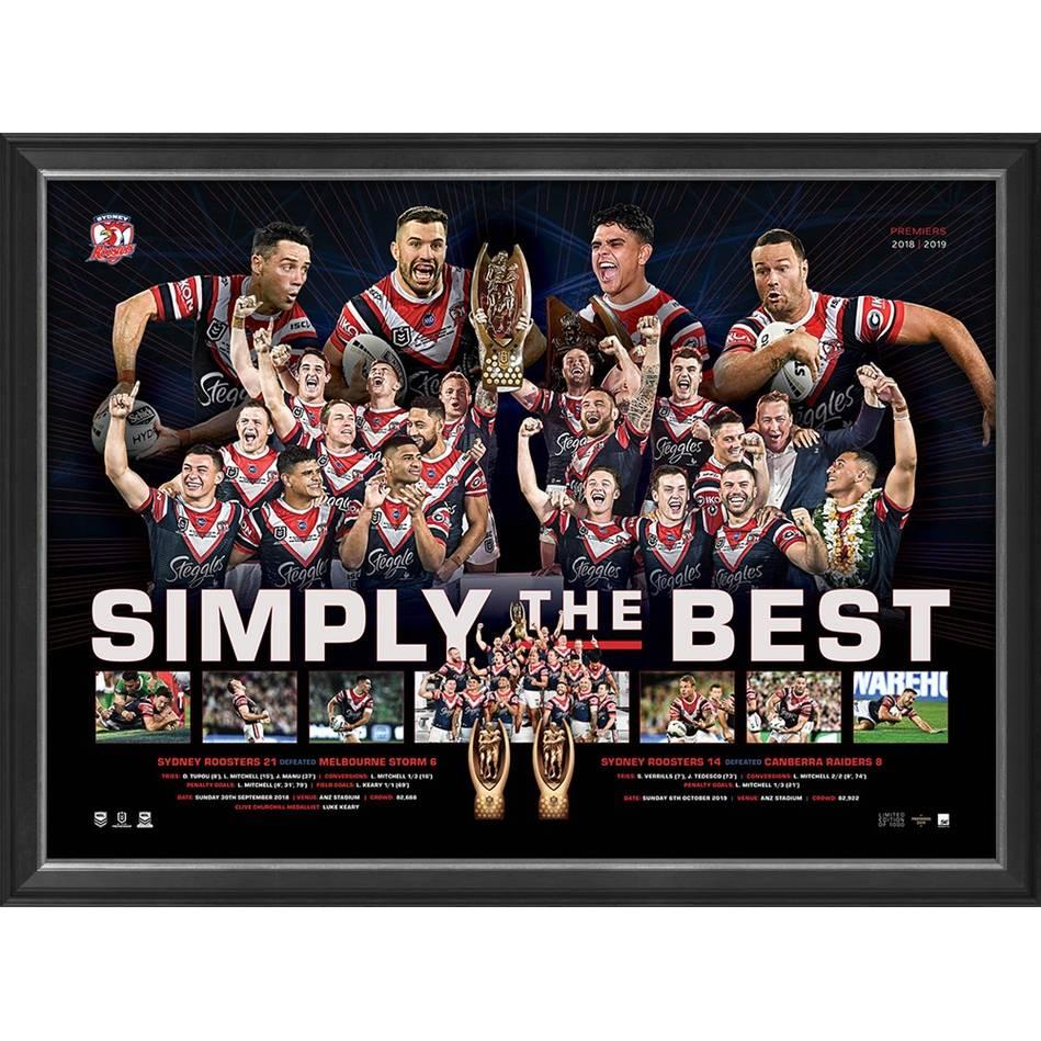 mainSydney Roosters 2019 Premiers Framed Sportsprint0