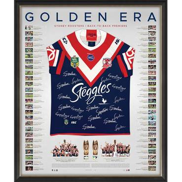 Sydney Roosters 2018/19 Premiers Team Signed Back to Back Jersey