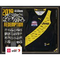 Richmond 2019 Premiers Team Signed Guernsey0