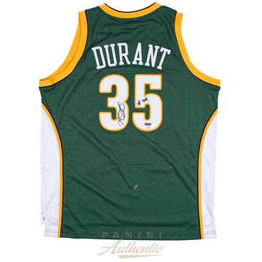 Kevin Durant Signed & Inscribed Seattle Sonics Jersey