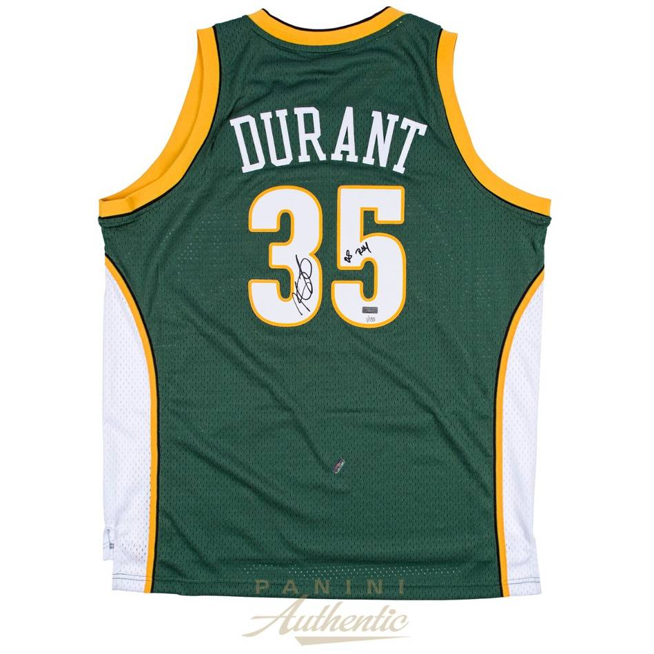 mainKevin Durant Signed & Inscribed Seattle Sonics Jersey0