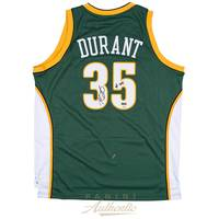 Kevin Durant Signed & Inscribed Seattle Sonics Jersey0