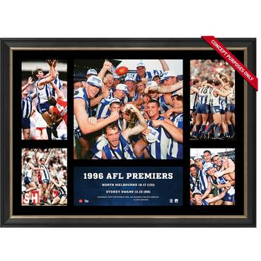 NORTH MELBOURNE 1996 PREMIERS TRIBUTE FRAME