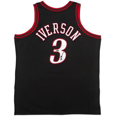 Allen Iverson Signed 76ers Jersey