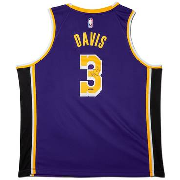 Anthony Davis Signed Los Angeles Lakers Purple Jersey