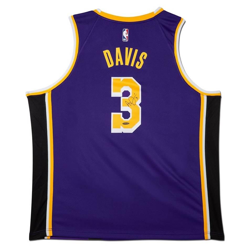 mainAnthony Davis Signed Los Angeles Lakers Purple Jersey0