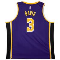 Anthony Davis Signed Los Angeles Lakers Purple Jersey0