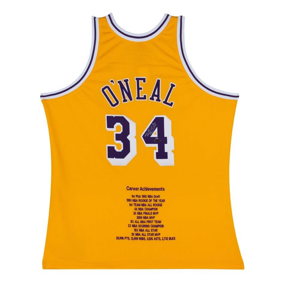 mainShaquille O'Neal Signed LA Lakers Jersey0