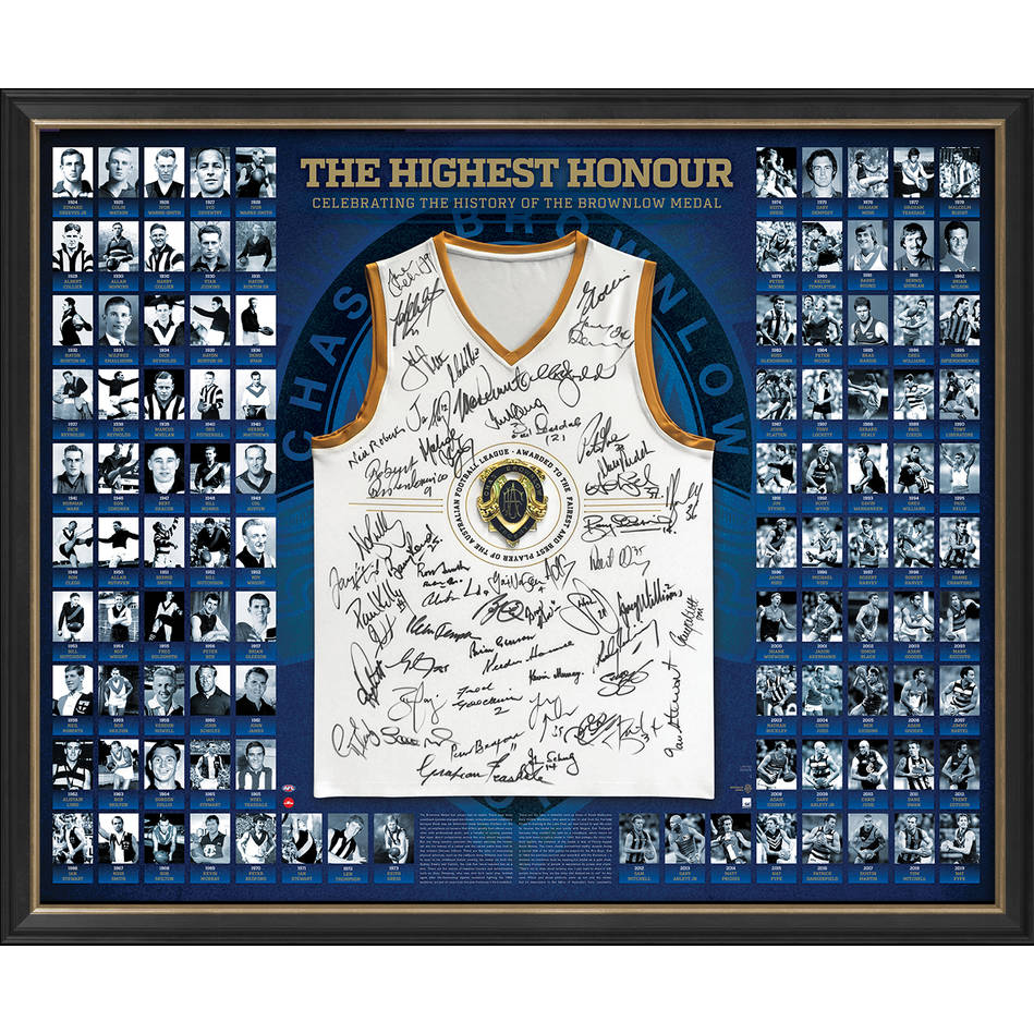 mainAFL Brownlow History Signed 'The Highest Honour'0