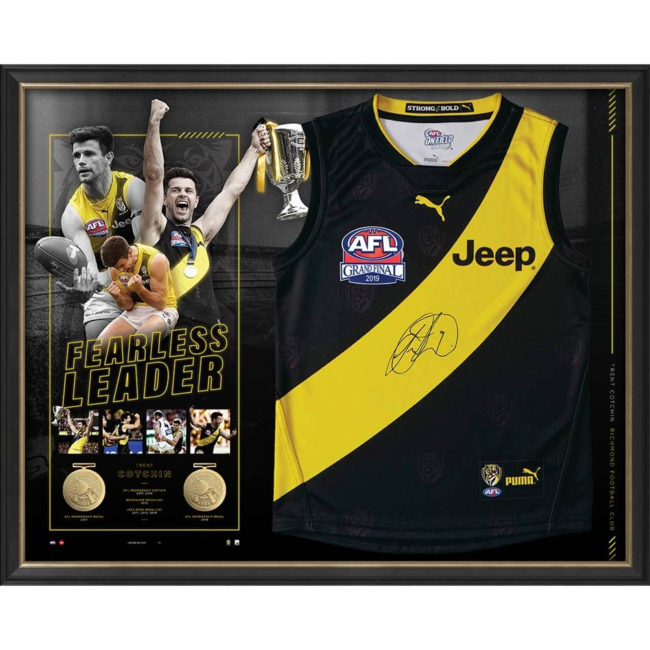 mainTrent Cotchin Dual-Premiership Captain Signed Guernsey0