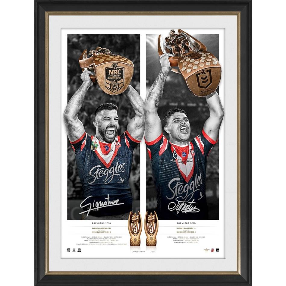 mainSydney Roosters 2019 Premiers Dual Signed Icon Series0